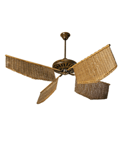 Caribean rattan Fan honey color