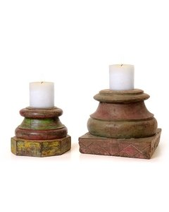 Prakaash Kari antique candle holders