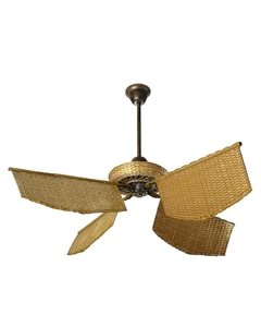 Caribean rattan Fan honey color - buy online