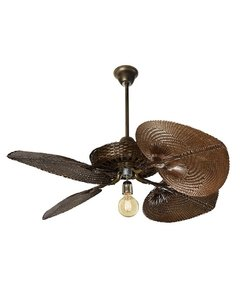 Casablanca style rattan Fan without cover