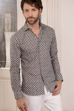 Camisa DH Rising modern fit estampada