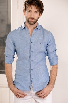 Camisa DH Powell de lino modern fit