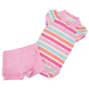 Conjunto Body e Short Cotton Listrado - Noruega Baby