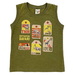 Conjunto Camiseta Safari e Bermuda Moletom - Have Fun