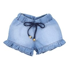 Conjunto Bata Poa e Shorts Jeans - Din Don - Kids shop