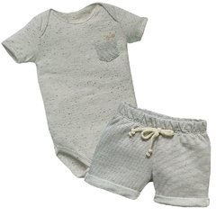 Conjunto Infantil Masculino Body e Bermuda - Grow Up