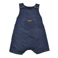 Macacão Jardineira Infantil Masculina Blue Denin - Grow Up
