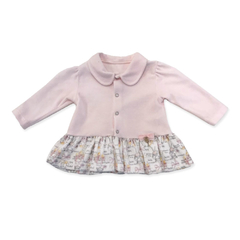 Vestido com Casaco Plush e Suedine - Grow Up - Kids shop