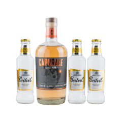 Caporale Oaked Gin Moretti x 750ml + 3 Britvic Tonic Water