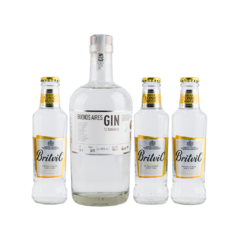 Buenos Aires Gin Moretti x 750ml + 3 Britvic Tonic Water