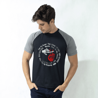 camiseta raglan preta all my sons