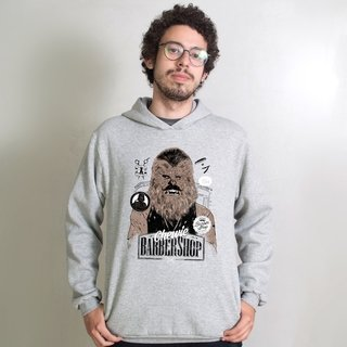 MOLETOM CINZA - CHEWIE BARBER SHOP
