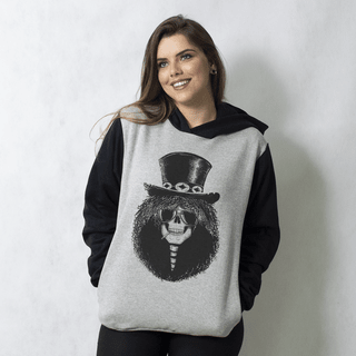 MOLETOM RAGLAN - SLASH SKULL