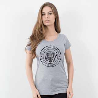CAMISETA CINZA - SOUTH RAMONES