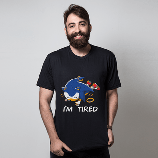 camiseta preta games tired