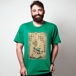 CAMISETA VERDE - MESTRE DO TETRIS