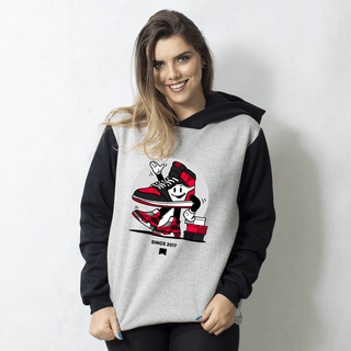 MOLETOM RAGLAN - JORDAN RED
