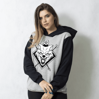 MOLETOM RAGLAN - NIGHT WOLF