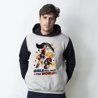 MOLETOM RAGLAN - SAVE THE WORLD