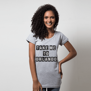 CAMISETA CINZA - TAKE ME TO ORLANDO