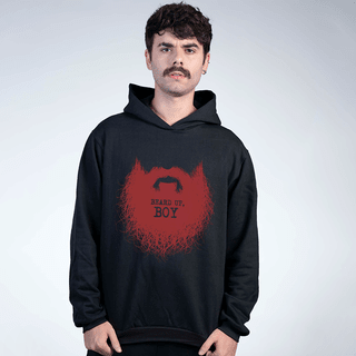 MOLETOM PRETO - BEARD UP BOY!