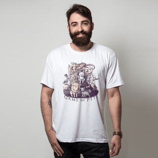 CAMISETA BRANCA - GAME OF PETS