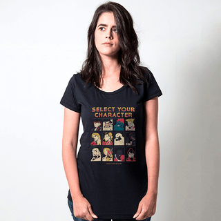 CAMISETA PRETA - SELECT YOUR CHARACTER