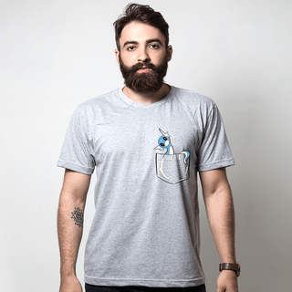 CAMISETA CINZA - POCKET DRATINI