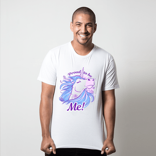 CAMISETA BRANCA - PROUD TO BE UNICORN