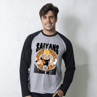 MANGA LONGA RAGLAN CINZA - TRAINING METHOD
