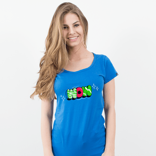 CAMISETA AZUL ROYAL - WOW