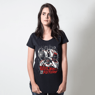 CAMISETA PRETA - BACK TO THE FUTURE