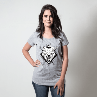 CAMISETA CINZA - NIGHT WOLF
