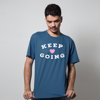 CAMISETA AZUL PETRÓLEO - KEEP GOING
