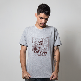 CAMISETA CINZA - SEE YOU