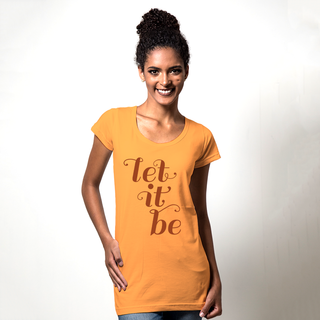 CAMISETA LARANJA - LET IT BE