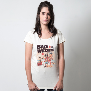 CAMISETA PALHA - BACK TO THE WEEKEND