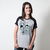CAMISETA RAGLAN CINZA - TAKE ON ME