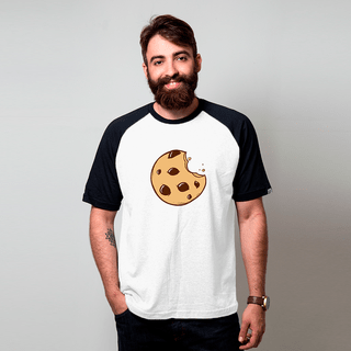 CAMISETA RAGLAN BRANCA - COOKIE CARTOON