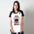 CAMISETA RAGLAN BRANCA - WOMEN LOVES SNAKES