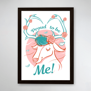 PÔSTER COM MOLDURA - PROUD TO BE DEER