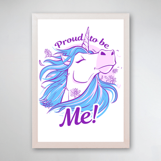 PÔSTER COM MOLDURA - PROUD TO BE UNICORN