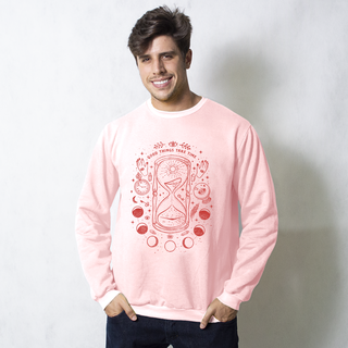 MOLETOM BÁSICO ROSA - GOOD THINGS TAKE TIME