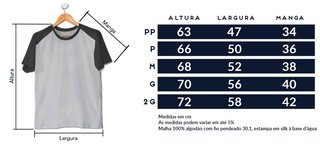 CAMISETA RAGLAN PRETA - COLLECTION