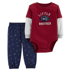 Carter's Set 2 piezas Body + Pantalon - Bordo