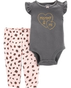 Carter's Set 2 piezas body + pantalon - Gris