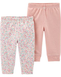 Carters Set 2 pantalon - Rosa/Floreado