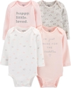 Carter's set de body manga larga - Rosa