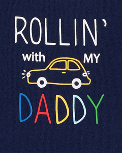 Carter's set de body manga corta - Rollin with my Daddy - comprar online