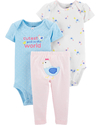 Carter's Set de 3 piezas: 2 Bodies + Pantalon - Gallinita